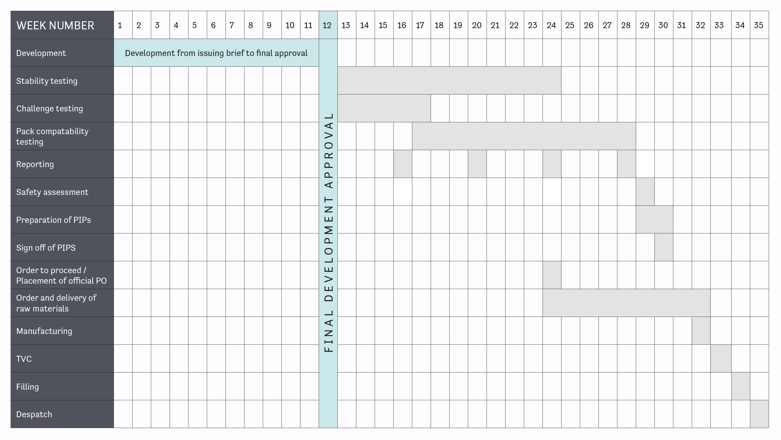 new product development timeline